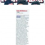 Rock Sound, novembre 2009 - The Marigold