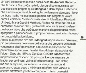 Articolo Rockerilla - DeA + OT + Marigold