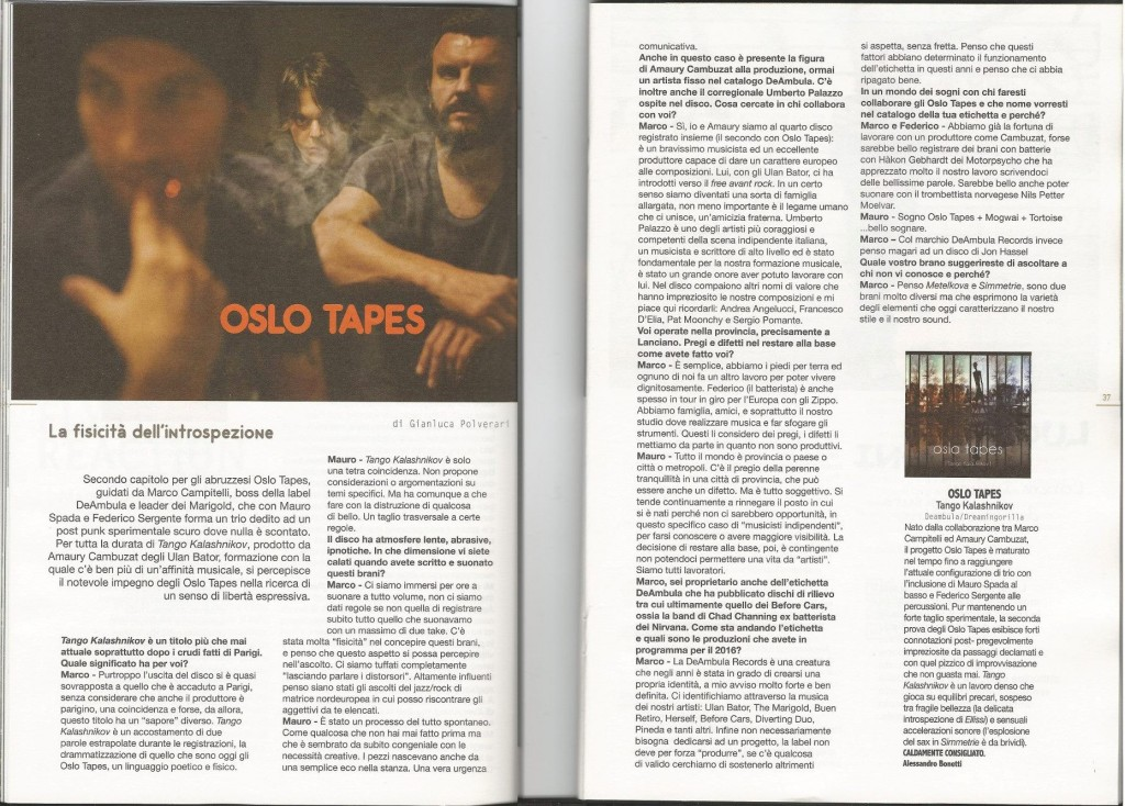 Oslo Tapes - intervista su rockerilla!